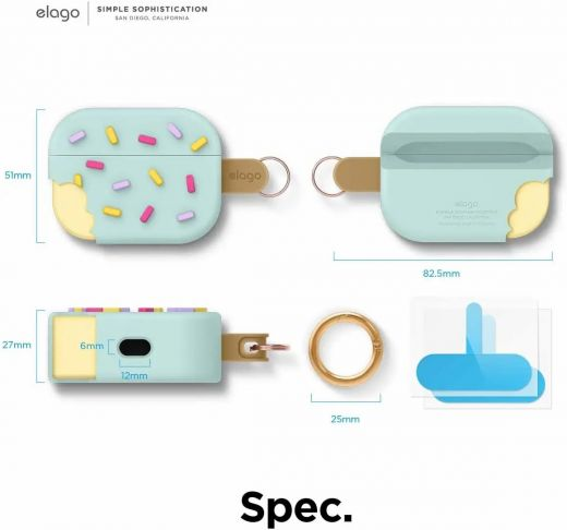 Чехол Elago Ice Cream Case Mint (EAPP-ICE-MT) для Airpods Pro
