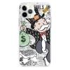 Прозрачный чехол Hustle Case Monopoly Wallpaper Clear для iPhone 13 Pro
