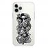 Прозрачный чехол Hustle Case Monopoly Black & White Clear для iPhone 13 Pro