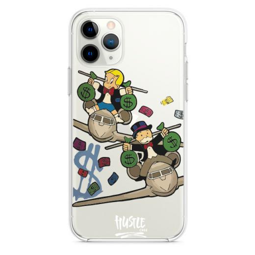 Прозрачный чехол Hustle Case Monopoly Plane Clear для iPhone 13 Pro