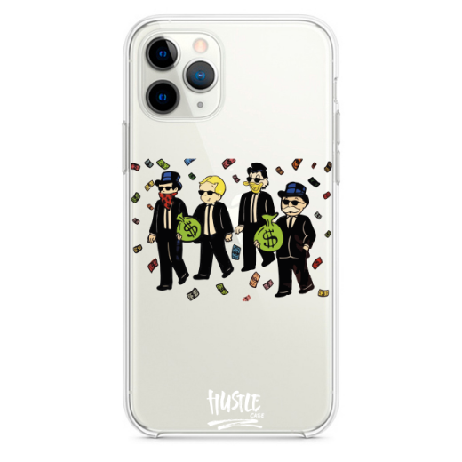Прозрачный чехол Hustle Case Monopoly Squad Clear для iPhone 13 Pro
