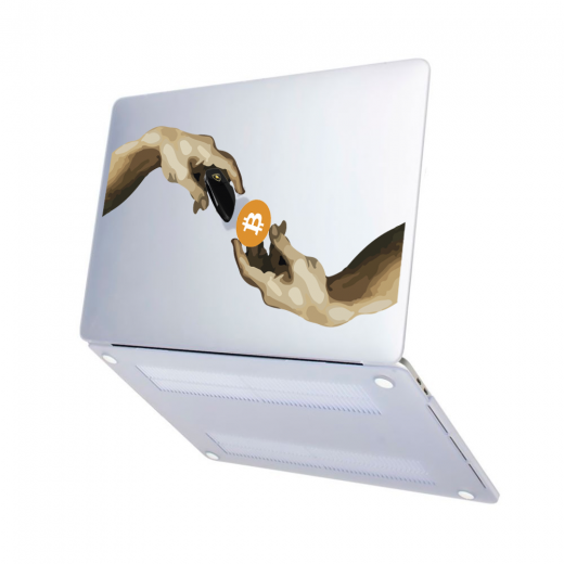 "Чехол-накладка Hustle Case Hands Btc=Auto Matte Clear для MacBook Pro 13"" (M1   2020 - 2016)"