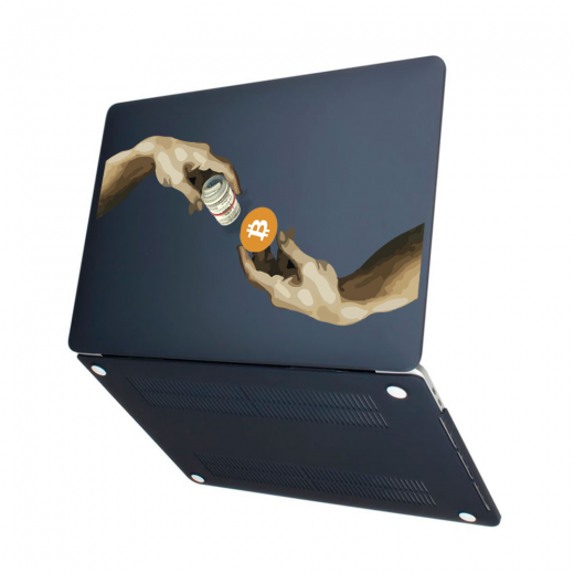 "Чехол-накладка Hustle Case Hands BTC=Money Black для MacBook Pro 13"" (M1 | 2020 - 2016)"