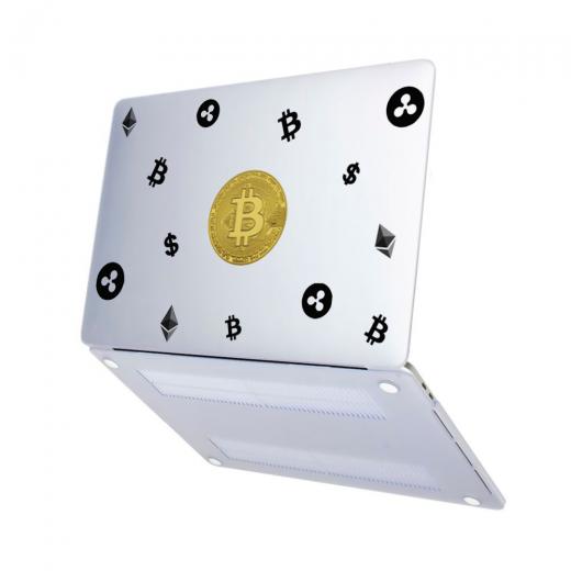 "Чехол-накладка Hustle Case Bitcoin Matte Clear для MacBook Pro 13"" (M1 | 2020 - 2016)"