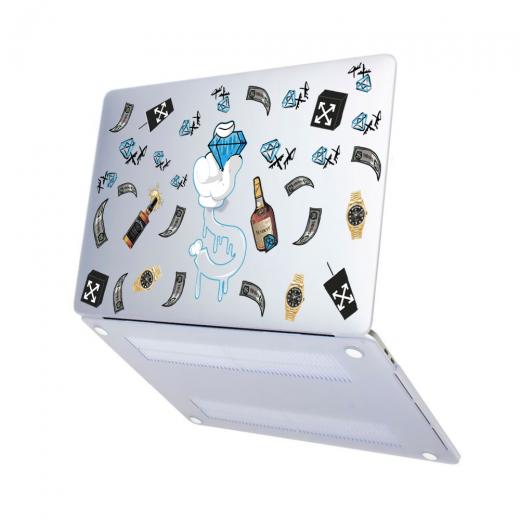 "Чехол-накладка Hustle Case Diamond Matte Clear для MacBook Pro 13"" (M1   2020 - 2016)"