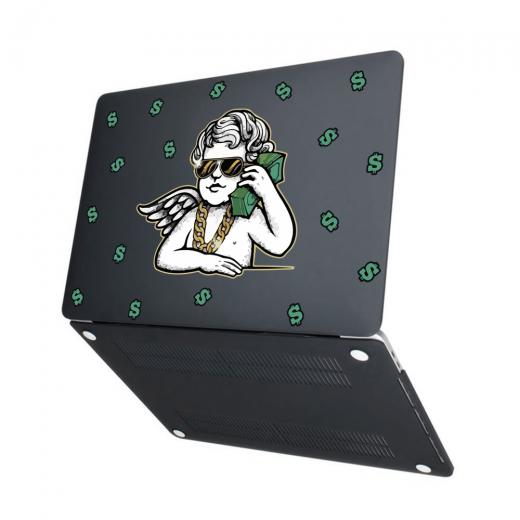 "Чехол-накладка Hustle Case Business Angel Black для MacBook Pro 13"" (M1 | 2020 - 2016)"