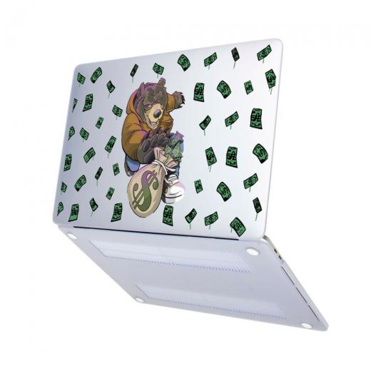 "Чехол-накладка Hustle Case Bear Matte Clear для MacBook Pro 13"" (M1   2020 - 2016)"