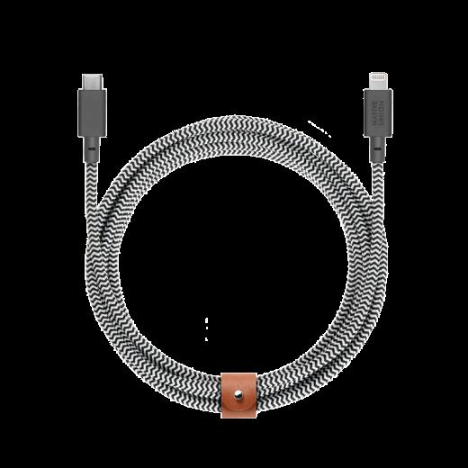 Кабель Native Union Belt Cable XL USB-C to Lightning Zebra (3 m) (BELT-KV-CL-ZEB-3)