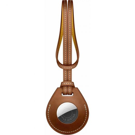 Кожаный брелок WIWU Hermes Bag Charm Brown для AirTag
