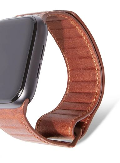 Ремешок Decoded Leather Traction Strap Brown (D9AWS44TS1CBN) для Apple Wach 42/44mm