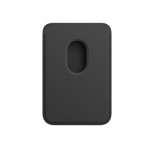 Чехол Apple Leather Wallet with MagSafe Black (High copy) для iPhone