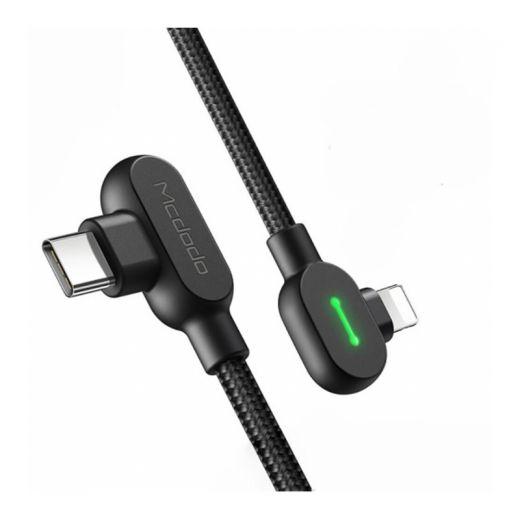 Зарядний кабель Mcdodo USB-C to Lightning cable 1.8m Black для iPhone   iPad