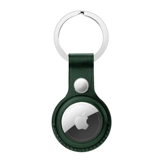 Брелок с кольцом оneLounge Leather Key Ring Forest Green для AirTag