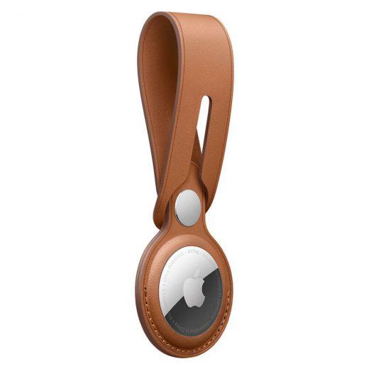 Брелок-петля оneLounge Leather Loop Saddle Brown для AirTag
