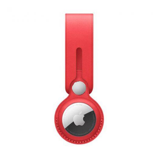 Брелок-петля оneLounge Leather Loop Red для AirTag