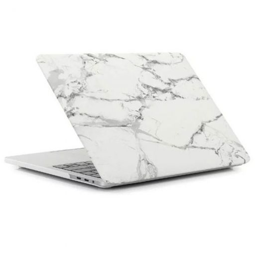 "Пластиковый чехол Marble White | Gray для MacBook Pro 13"" (2020)"
