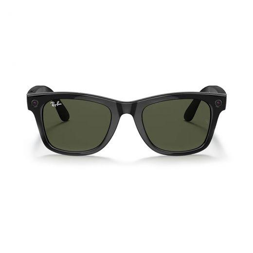 Cмарт-очки с камерой Ray-Ban Stories   WayfarerShiny Black Classic G-15 Green Lens