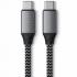 Кабель Satechi USB-C to USB-C Cable 100W Space Gray (25 cm) (ST-TCC10M)