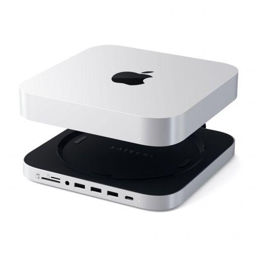 Хаб-подставка Satechi Type-C Aluminum Stand and Hub (ST-MMSHS) для Mac Mini