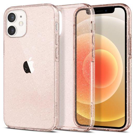 Чехол Spigen Liquid Crystal Glitter Rose Quartz (ACS01742) для iPhone 12 mini