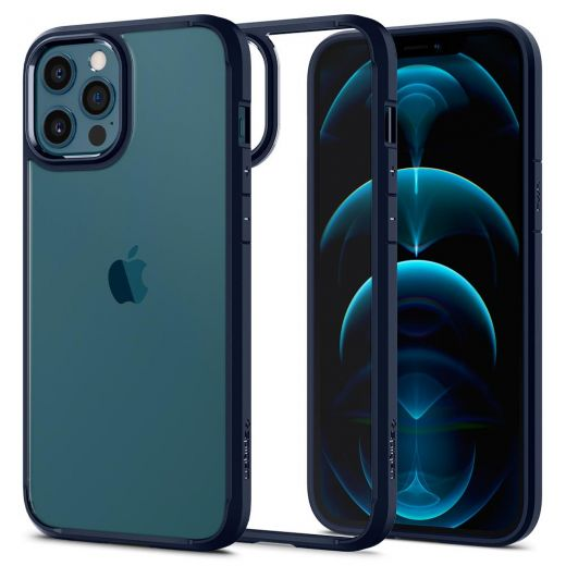 Чехол Spigen Ultra Hybrid Navy Blue (ACS02251) для iPhone 12 | 12 Pro