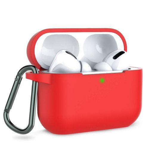 Силиконовый чехол CasePro Silicone Case Red для AirPods Pro