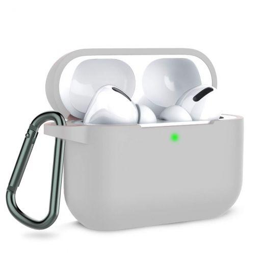 Силиконовый чехол CasePro Silicone Case Gray для AirPods Pro