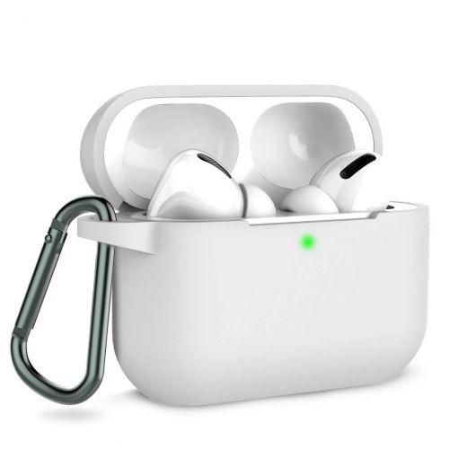 Силиконовый чехол CasePro Silicone Case White для AirPods Pro