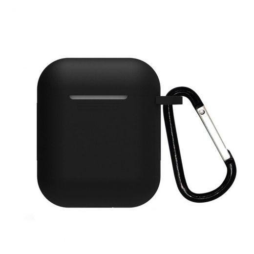 Силиконовый чехол CasePro Silicone Case Black для AirPods 1/2