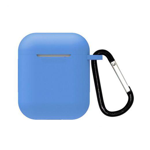 Силиконовый чехол CasePro Silicone Case Blue для AirPods 1/2