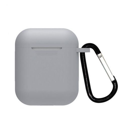 Силиконовый чехол CasePro Silicone Case Gray для AirPods 1/2