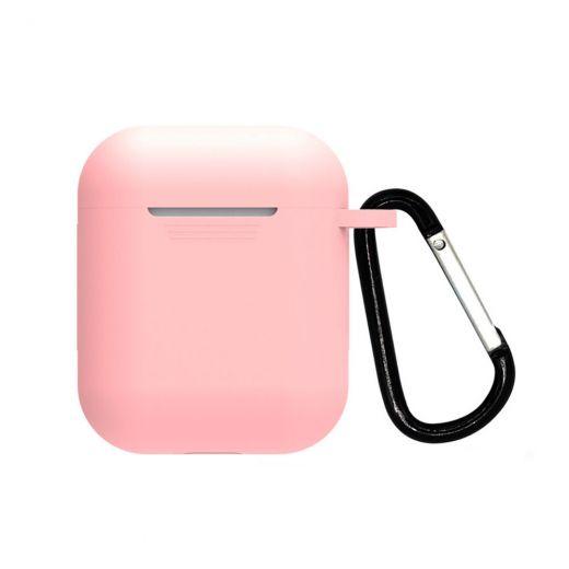 Силиконовый чехол CasePro Silicone Case Pink для AirPods 1/2