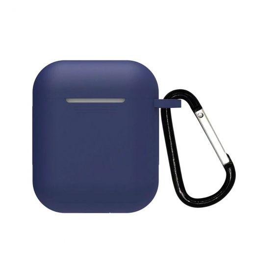 Силиконовый чехол CasePro Silicone Case Navy Blue для AirPods 1/2