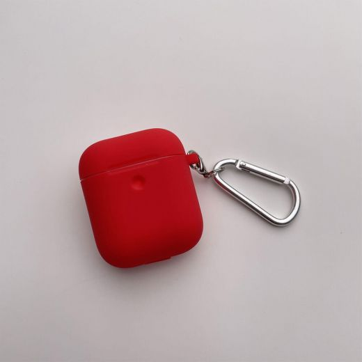 Силиконовый чехол CasePro Silicone Case Red для AirPods 1/2