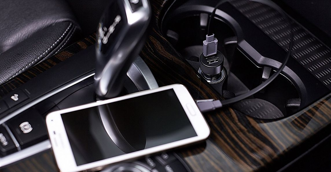 Автозарядка Lab.C Dual USB Car Charger A.L